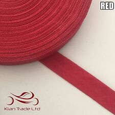 13mm X 25 meter - RED BIAS BINDING COTTON TAPE. WEBBING BINDING TRIM EDGE