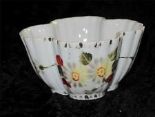 Vintage Four-Leafed Clover-Shaped Ceramic Bowl, Fluted Sides Yellow Floral Patt