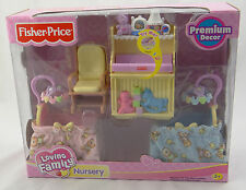 FISHER PRICE~LOVING FAMILY~ NURSERY ~ 2007 L3183 RETIRED Twin Time Playset ~ NEW