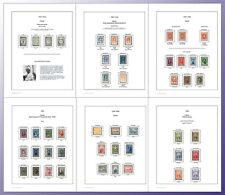 Hawaii Color Stamp Album Pages (US POSSESSIONS)