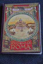 Libretto - Ricordo di Roma - Parte 1 cartoline Vedute italia guida viaggio