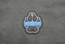K9 Thin Blue Line PVC Patch Police Dog Handler Morale Patch Hook Backing