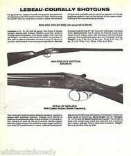 1988 LEBEAU-COURALLY Sidelock Side by Side SHOTGUN AD