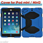 Heavy Duty Shock Proof Silicone Case Cover With Kickstand For iPad Mini