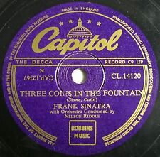 "CLASSIC UK #1 FRANK SINATRA 78 "" THREE COINS IN THE FOUNTAIN"" CAPITOL CL14120 EX"