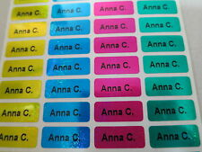 150 Four Laser Colors Personalized Waterproof Name Stickers Daycare School Label