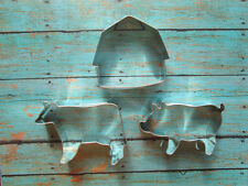 Farm Cookie Cutter Set -  Tractor, pig cow - Birthday, Baby Shower