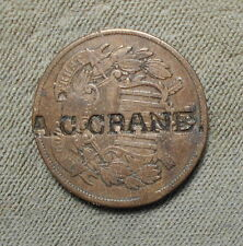 Counterstamp: A.C. CRANE c/s On 1864 2c Brunk - Not Listed