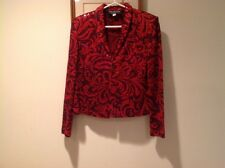 St John Red Evening Jacket Size 8