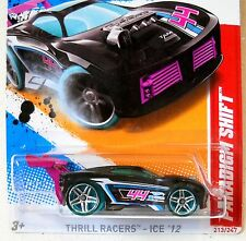 2012 Hot Wheels #213 THRILL RACERS ice 3/5 ∞ PARADIGM SHIFT ∞ CLEAR GREEN WHEELS