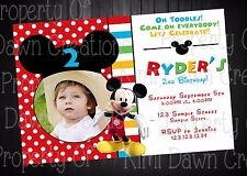 Mickey Mouse Birthday DIGITIAL DELIVERY Invitation