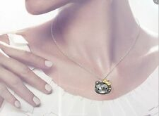 Swarovski Crystal Hello Kitty Jet Gold Pendant Necklace 1152576 Brand New In Box
