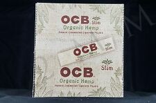 FULL BOX (24 packs) AUTHENTIC OCB ORGANIC HEMP SLIM KING SIZE PAPERS UNBLEACHED