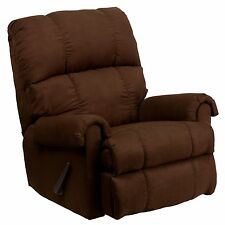 Flash Furniture Contemporary Flatsuede Chocolate Microfiber Rocker Recliner NEW