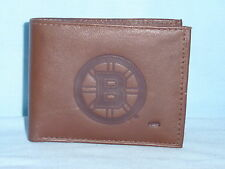 BOSTON BRUINS   Leather BiFold Wallet   NEW    brown 3 k