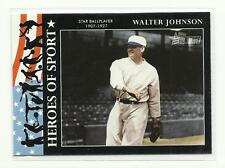 TOPPS HERITAGE 2009 TC HS #20 {Heroes of Sport} Walter Johnson NEW