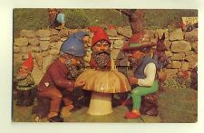 h0017 - Gnomes at  Blackgang Chine , Isle of Wight - postcard
