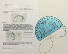 "NATO Approved Accurate 6"" RA Map Reading Military Protractor and Instructions"
