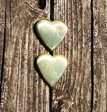 Solid BRASS Heart Shaped Bridle / Harness Rosettes Loop Conchos