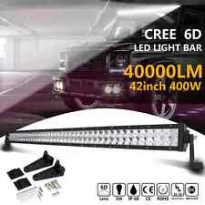 "6D 42""Inch 400W Cree Led Work Light Bar Spot Flood Offroad 4WD ATV Truck Lamp US"