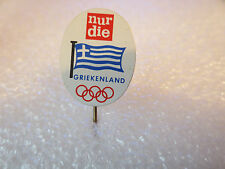 VINTAGE TEAM GREECE OLYMPIC GAMES PIN BADGE