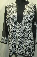 New design Chicken full embroidery  Georgette  top/kurta yoga tunic  size 46
