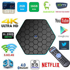 16G+2G KODI 16.1 Fully Loaded Octa Core Android 6.0 3D Smart TV BOX Media Player