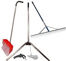 Lake/Pond Seaweed Cutter / Rake / Pitch Fork Combo Kit forAquatic Weed Control