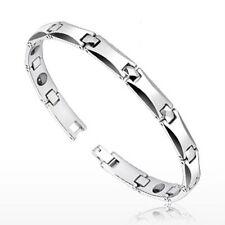 Tungsten Carbide Curve Faceted Bio-Magnetic Bracelet Length 220mm Width 7mm K290