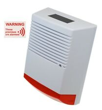 A4 sized Solar Powered Dummy Alarm Siren & Flashing LED's with Window Sticker