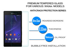 100% Genuine Tempered Glass Screen Protector Case For Sony Xperia E5