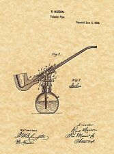 Patent Print - Tobacco Water Pipe 1866. Hookah Bong 420. Ready To Be Framed!