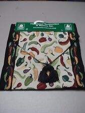 """USA Made NWT Red Hot Chili Pepper 13"""" x 72"""" Tapestry Table Runner #16"""
