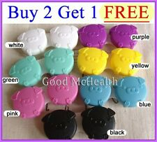 Buy 2 Get 1 Free  Cute Pig Contact Lens Soaking Case Storing Holder Box