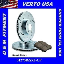 Set of Performance Front Disc Brake Rotors & Pads  Acura CL , TL, TSX