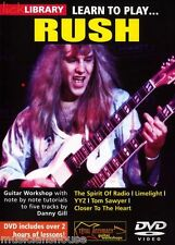 LICK LIBRARY Learn to Play RUSH Lesson Tutor LIMELIGHT YYZ Rock Metal GUITAR DVD