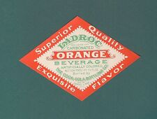 1930S 1940S COCA COLA LADROC ORANGE SODA GRAYS LAKE ILL SUPERIOR BOTTLE LABEL