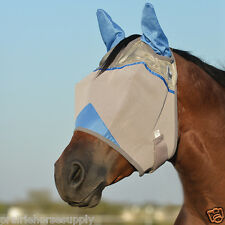 CASHEL CRUSADER FLY MASK WARMBLOOD Covers EARS BLUE Wounded Warrior Project