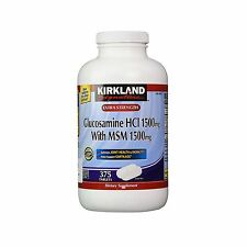 Kirkland Signature Extra Strength Glucosamine HCI 1500mg with MSM 375 Tablets