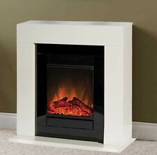 DIMPLEX ELECTRIC SMALL CREAM FREESTANDING SURROUND FIRE FLAME FIREPLACE SUITE
