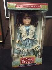 "Classic Treasures 16"" Porcelain Doll, Black Hair, Special Edition"