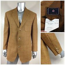 Vintage FACONNABLE ALPACA Style 50`s 60`s Men`s Plaids&Checks Sport Coat Sz 46