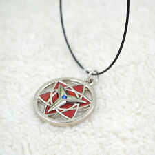 Anime Naruto Uchiha Sasuke Necklace Mangekyou Sharingan Cosplay Pendant New