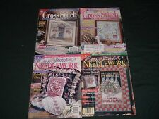 4 Vtg Lot Better Homes Holidays Samplers Cross Stitch Needlework Magazines #pe15