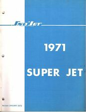 1971 SNO-JET SUPER JET SNOWMOBILE PARTS MANUAL NICE 59 PAGES  (456)