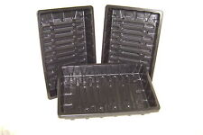 10 X HEAVY DUTY - WITHOUT HOLES- FULL SIZE- SEEDS-PROPAGATION -GRAVEL TRAYS