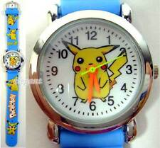 Pikachu Pokemon Monsters Blue 3D Kids Wrist Watch