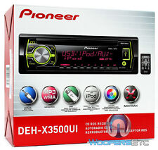 PIONEER DEH-X3500UI CD MP3 WMA PANDORA IPOD USB AUX SD EQUALIZER 200W CAR STEREO