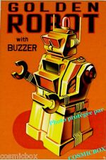 Magnet GOLDEN ROBOT aimant Robert Lesser POPCORN POSTERS art science fiction SF