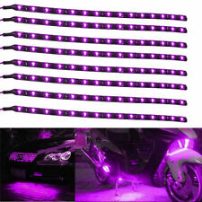 8pcs Purple 18 LED 30CM Car Grill Flexible Waterproof Light Strip SMD 12V